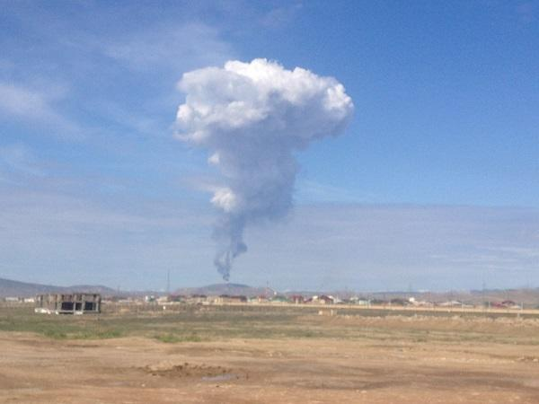 Bakıda palçıq vulkanı püskürdü - Foto