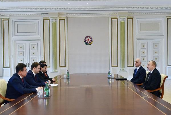 Ilham Aliyev receives Maksim Oreshkin