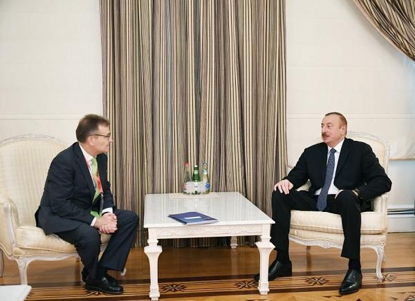 Ilham Aliyev receives Santiago Garcia-Mila