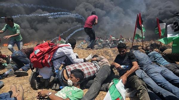 В секторе Газа при столкновениях пострадали 33 палестинца