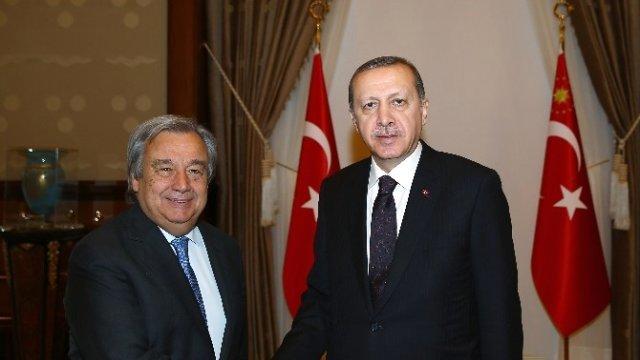 Guterres met with Erdogan and thanked him