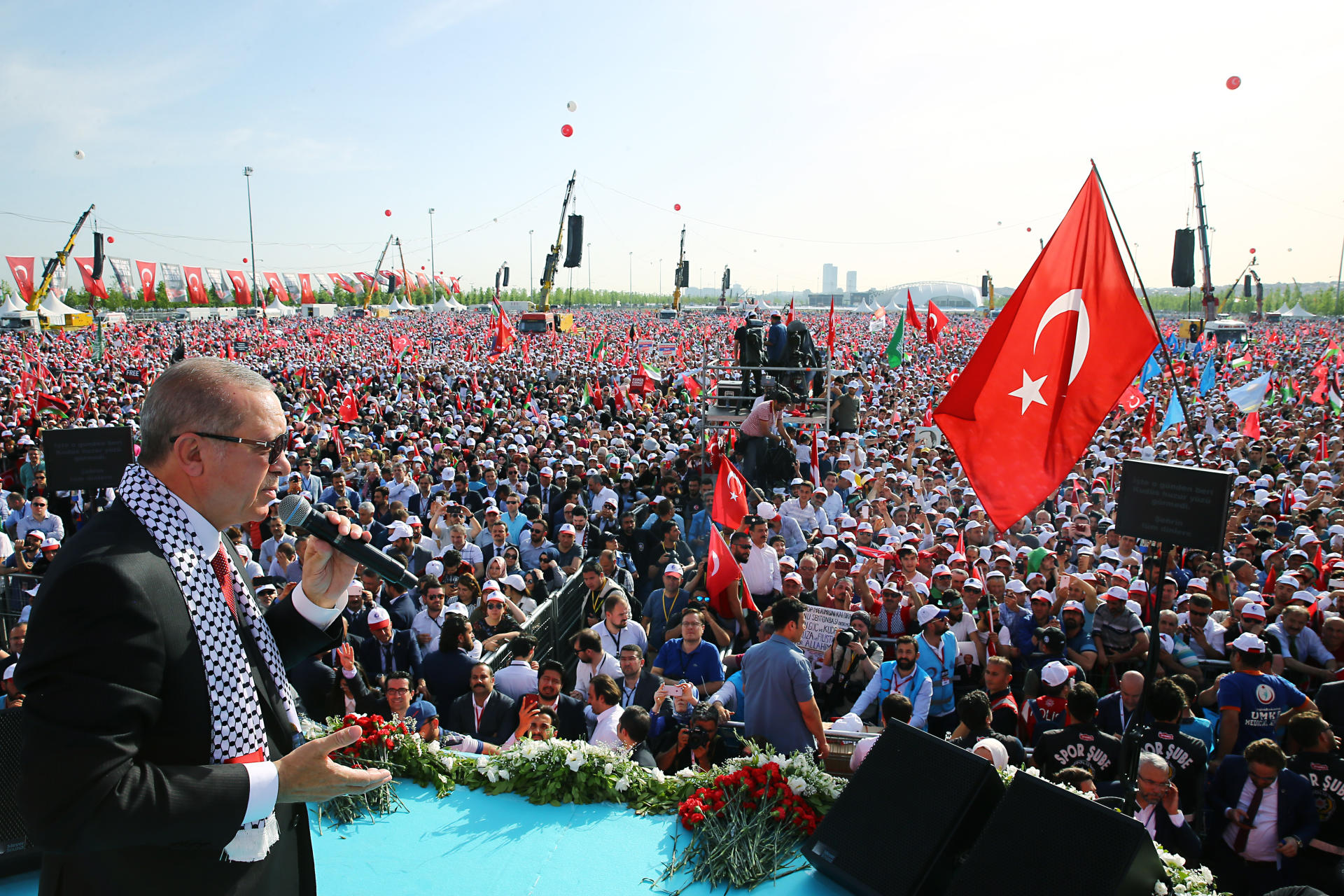 اردوغان قودس اوزریندن عربیستانا میدان اوخویور