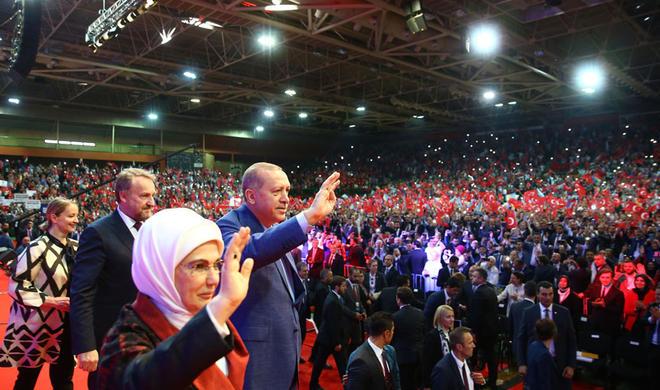 Erdogan addresses Turks living in Europe