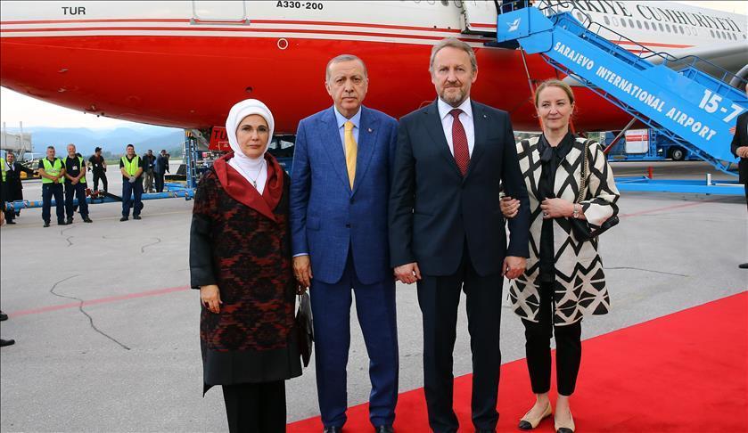 Завершился визит Эрдогана в Сараево