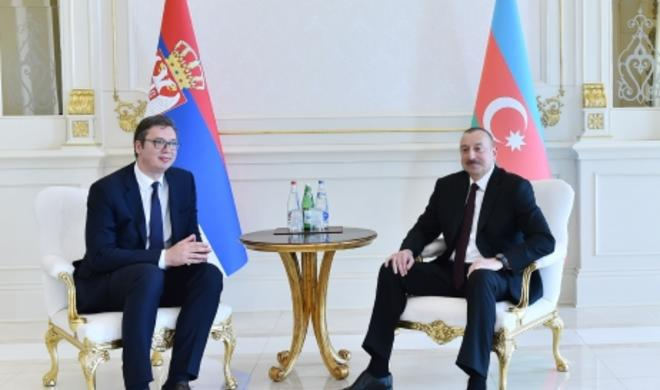 Azerbaijani, Serbian presidents hold one-on-one meeting