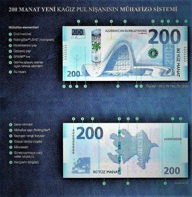 В Баку презентовали новую купюру в 200 манатов - Фото