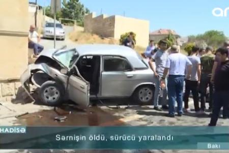 Bakıda yüksək sürət ölümə səbəb oldu – Video