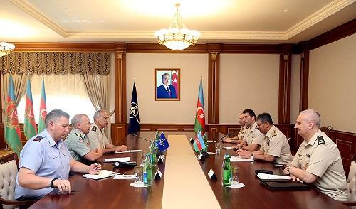 Azerbaijani defense minister meets NATO generals