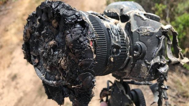 Ракета Илона Маска сожгла камеру фотографу NASA