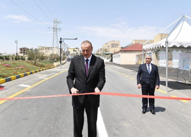 Ilham Aliyev inaugurates Lokbatan-Gobu highway
