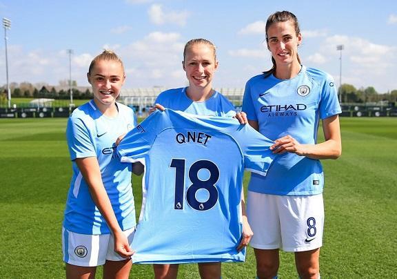"Женская команда ""Манчестер сити"" и QNET теперь вместе"