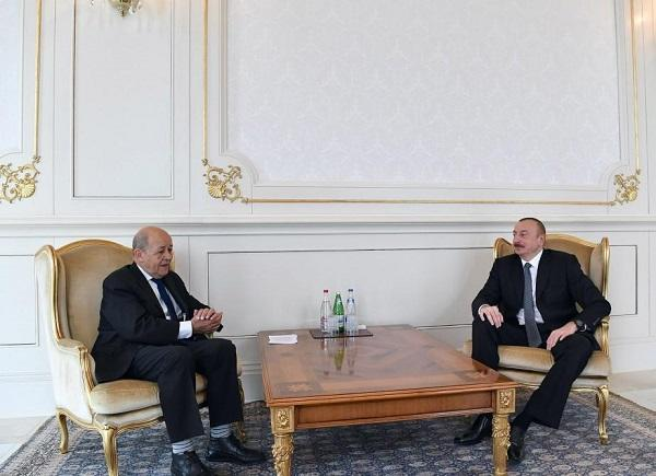 Ильхам Алиев принял главу МИД Франции