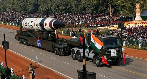 India showcases military strength at Republic Day