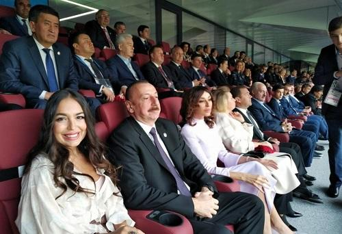 Ilham Aliyev and his family attended the FIFA World Cup -
