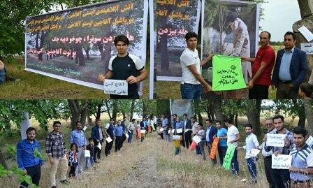 İran etirazlarında Zəlimxanın məşhur şeiri - Foto