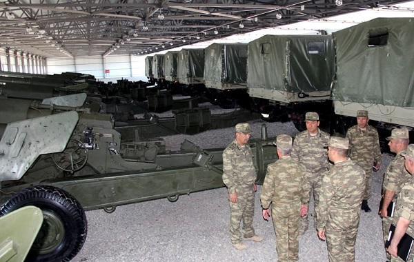 Zakir Həsənov yeni hərbi hissənin açılışında - Foto
