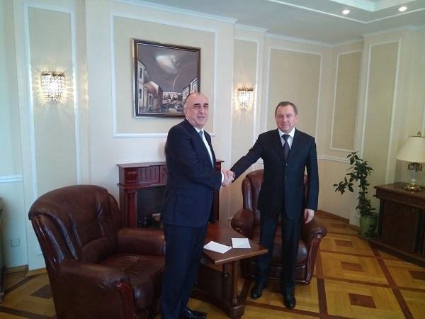 Мамедъяров встретился с белорусским главой МИД