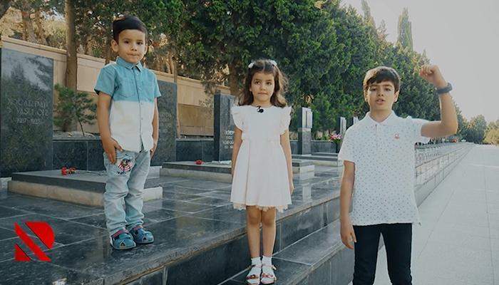 Azyaşlıların Azərbaycan əsgərinə sevgisi - Video