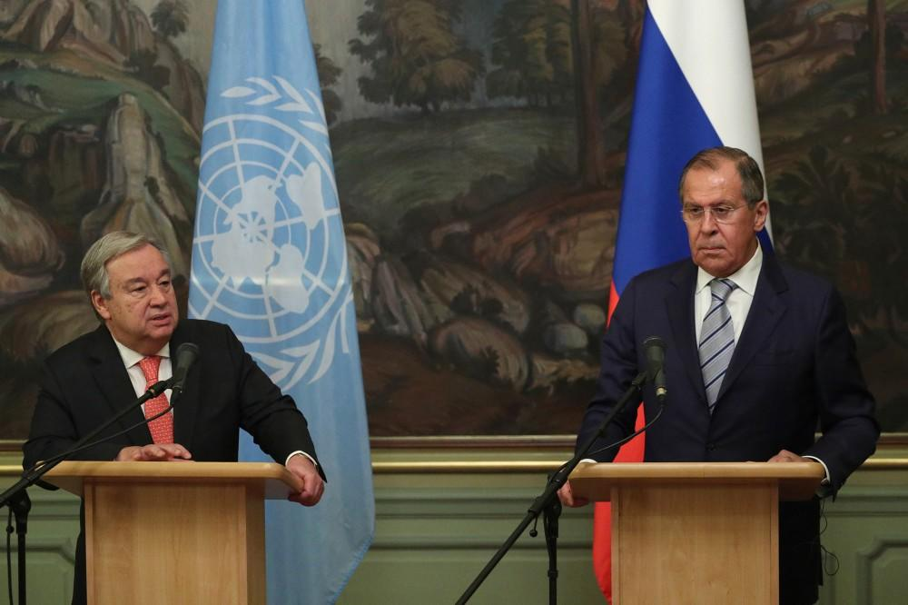 Lavrov discusses Syria, anti-pandemic efforts with UN chief