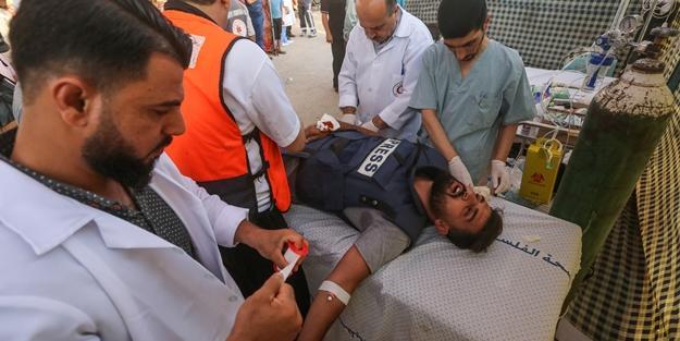 Anadolu Agentliyinin müxbiri Qəzzada yaralandı