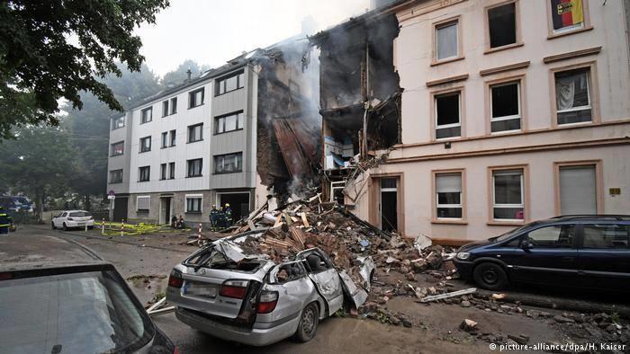 Almaniyada dəhşətli partlayış: 25 yaralı - Video