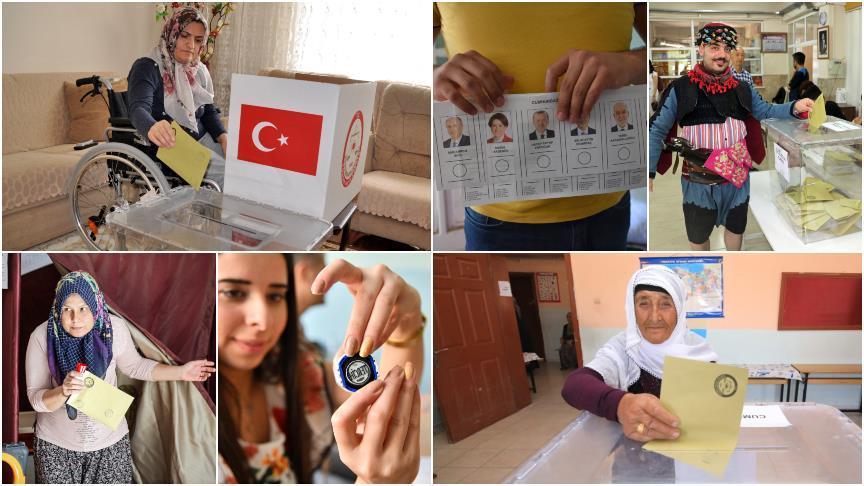 Türk məşhurlar seçkiyə axın etdi - Foto