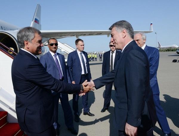 Володин прибыл в Баку - Фото