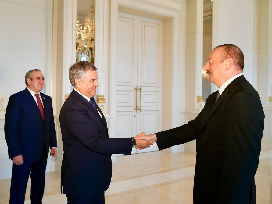 İlham Əliyev Volodini qəbul etdi - Foto