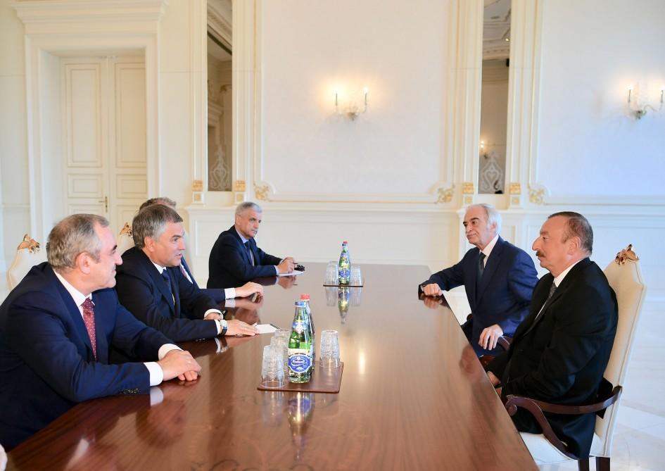 Ильхам Алиев принял Володина - Фото