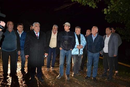 Daşkəsəndə təbii fəlakət: başçı hadisə yerində - Video