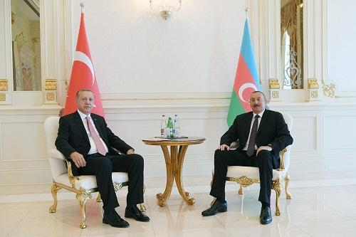 Ilham Aliyev spoke with Erdogan