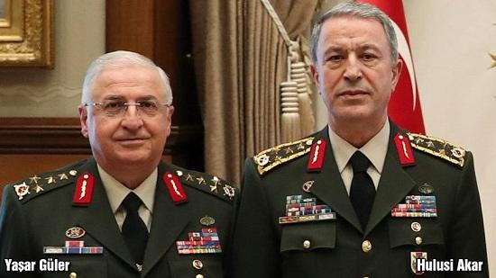 Turkish defense chief inspects troops on Syria border