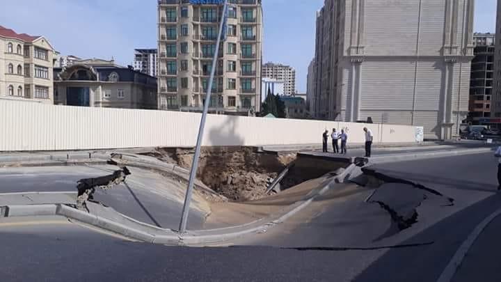 Çökən yolla bağlı rəsmi məlumat: Bərpa bitdi