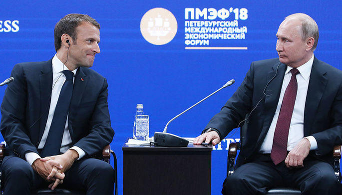 Putin, Macron discuss implementation of joint initiative