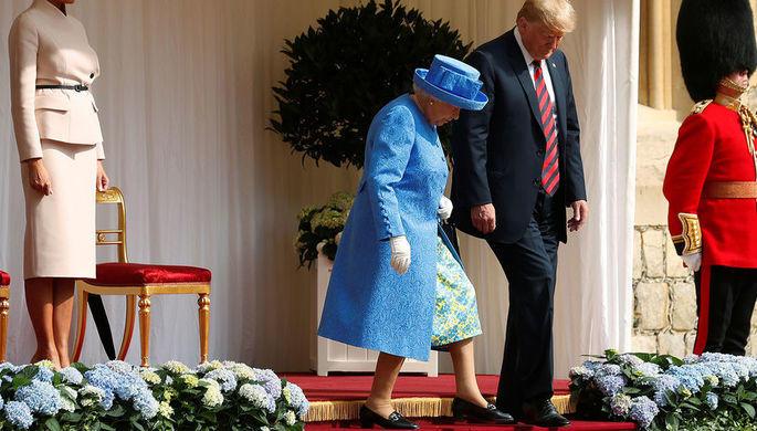 Трамп рассказал, о чем говорил с Елизаветой II