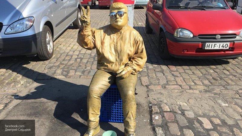 В Хельсинки золотой «Трамп» вымогает деньги у туристов
