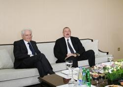 Алиев и Маттарелла на совместном бизнес-форуме