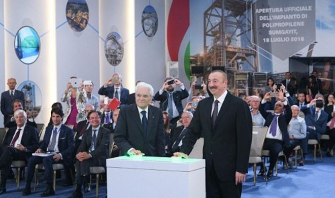 Президенты на открытии завода в Сумгаите - Фото