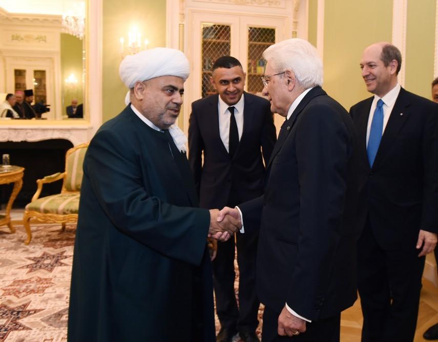 Şeyx İtaliya prezidenti ilə görüşdü - Foto