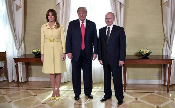 Меланья испугалась Путина: изменилась в лице