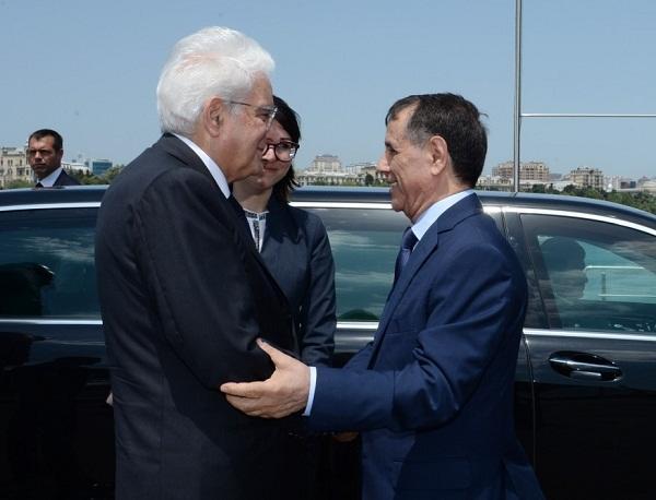 Novruz Məmmədov İtaliya prezidenti ilə görüşdü