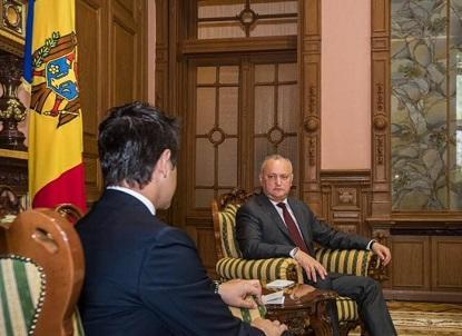 Moldova prezidentindən Bakıya jest - Foto