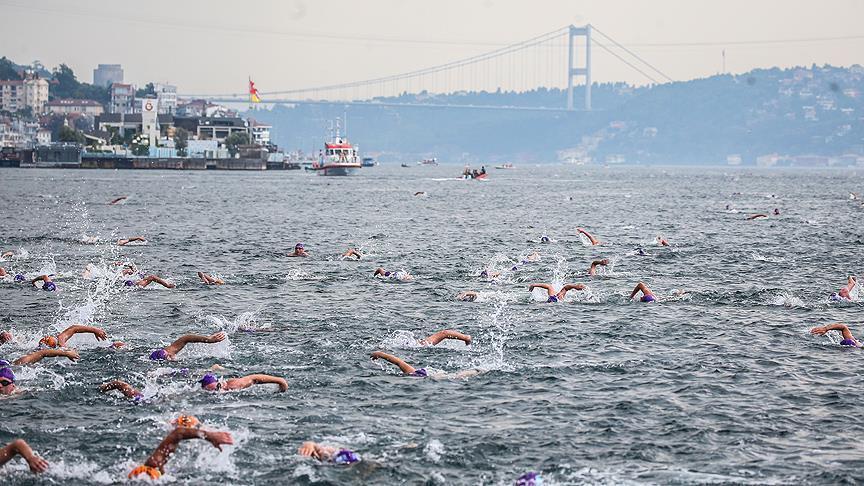 Определились победители заплыва через Босфор
