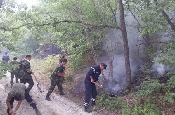 FHN: Daşkəsəndə ermənilərin törətdiyi yanğın söndürüldü