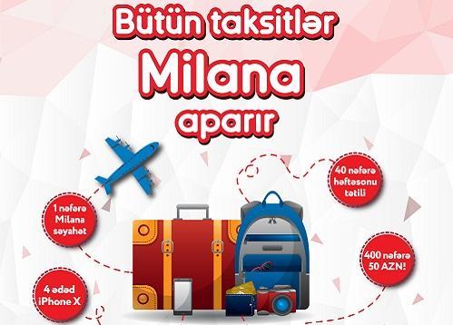 """""""Kapital Bank""""ın müştərisi Milana səyahət qazandı"""
