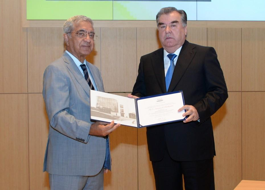 President receives honorary doctorate from ADA University