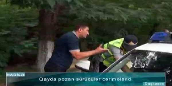 Sürücüdən polisə: Yazma dedim, yekə kişisən - Video