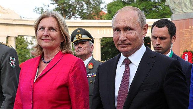 Свадьба главы МИД Австрии задерживается из-за Путина