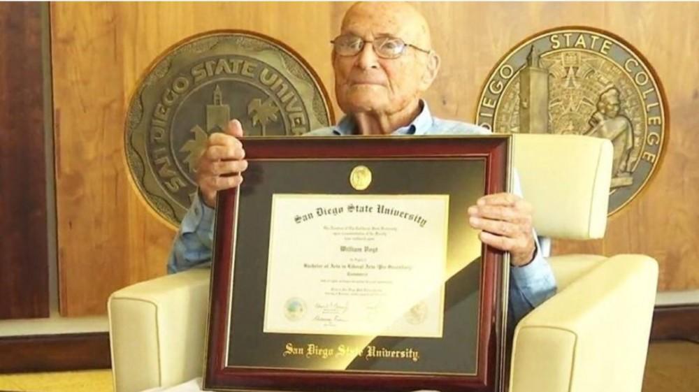 105 yaşlı amerikalı diplomunu 83 ildən sonra aldı