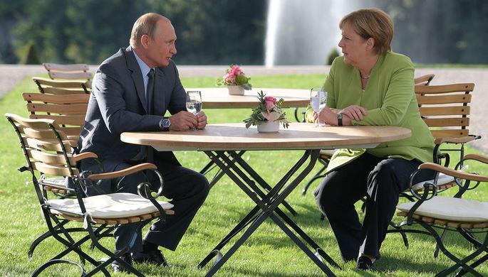 Путин и Меркель провели обстоятельные переговоры